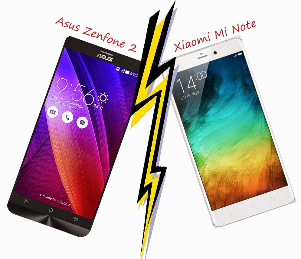 Asus Zenfone 2 vs Xiaomi Mi Note