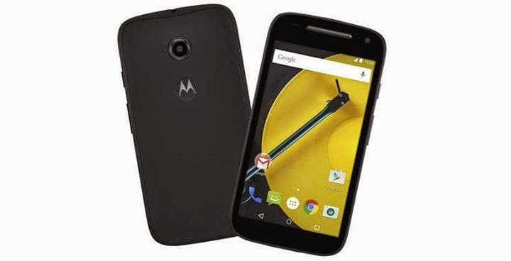 Moto E 2nd Generation Front and Back