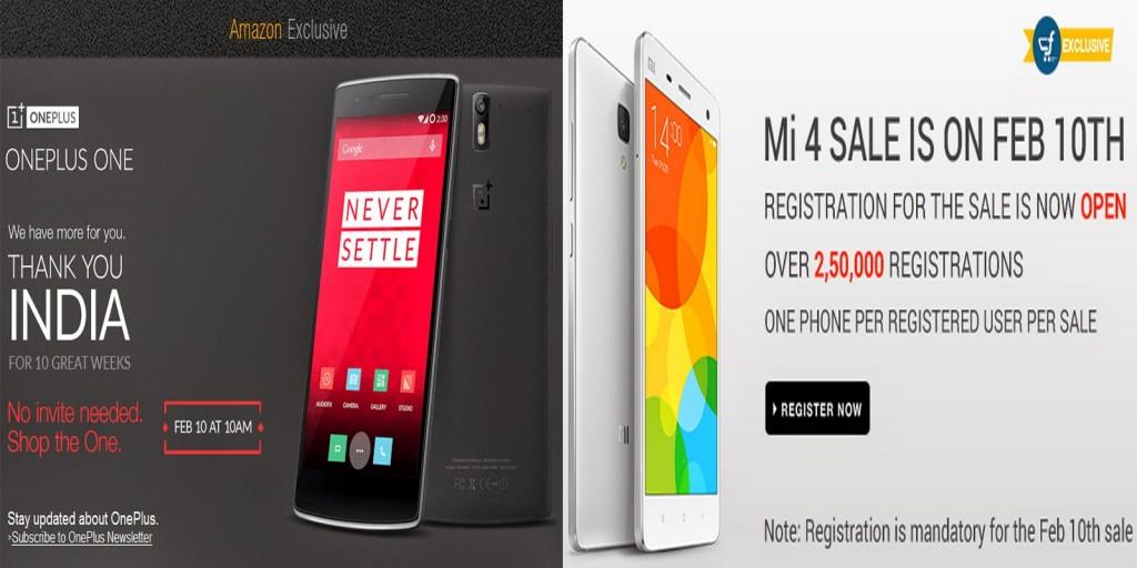 OnePlus One Invite Free Sale or Xiaomi Mi 4 Flash Sale