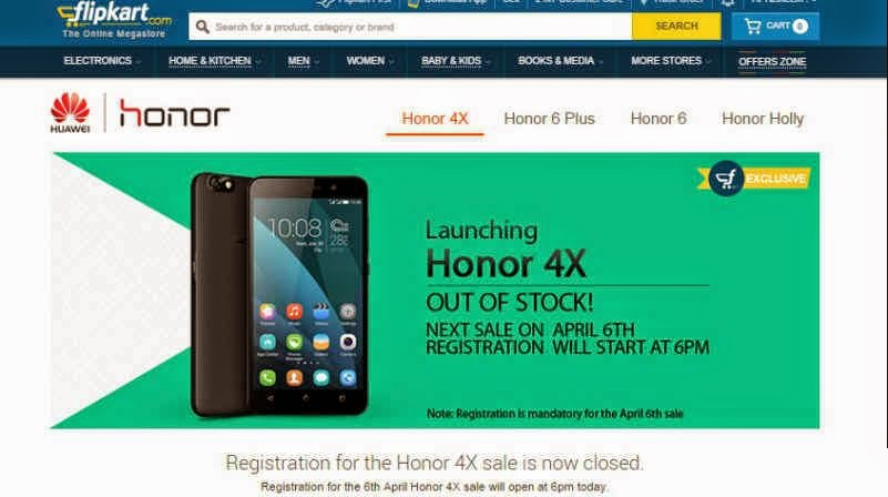 Huawei Honor 4x Out Of Stock In Just 60 Seconds