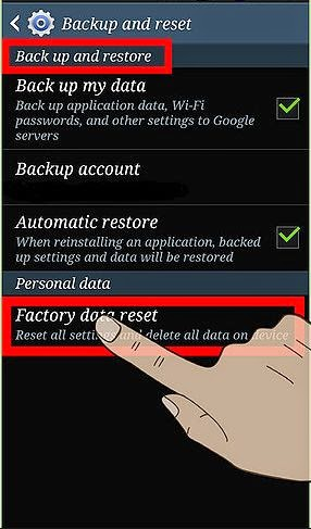 Factory reset your phone: