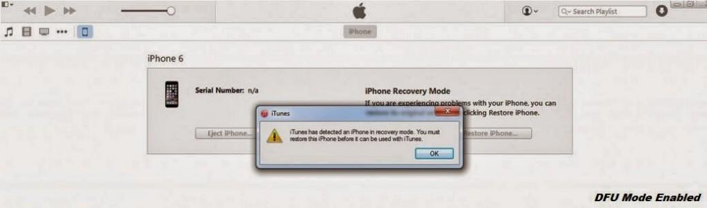 iPhone In DFU Mode