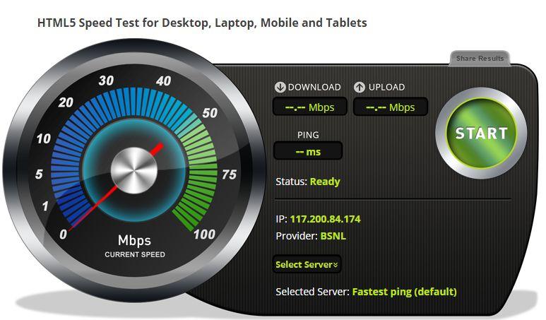 Bandwidthplace.com: Internet Speed Test
