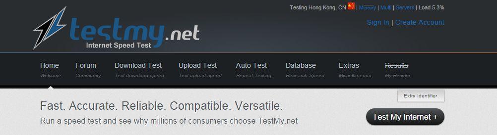 Test My Net: test my internet speed