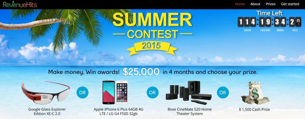 RevenueHits Summer Contest