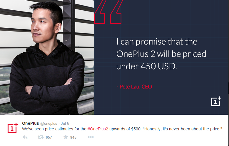 OnePlus 2 Pricing