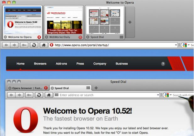 Opera - Top browser For MAC