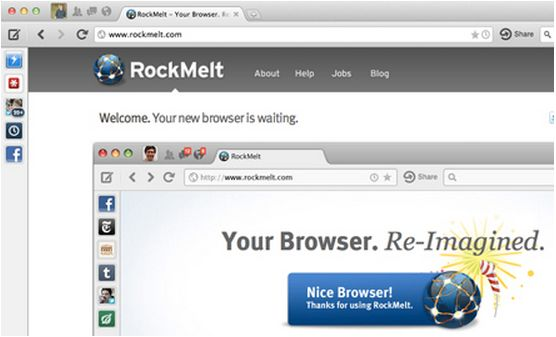 RocketMelt Web Browser - Best Browser For MAC
