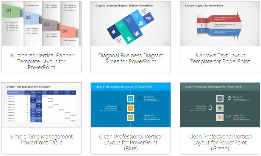 PowerPoint Text and Table Templates - SlideModel Review