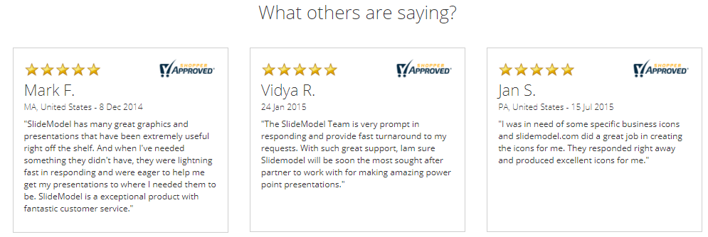 User Review On SlideModel.com'