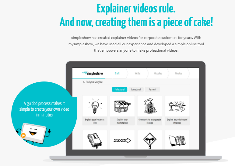 mysimpleshow review - create your own explainer video