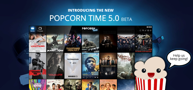 popcorn time- free movies watching websites