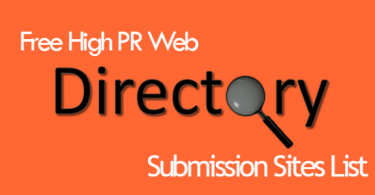 Free High PR Web Directory Submission Websites