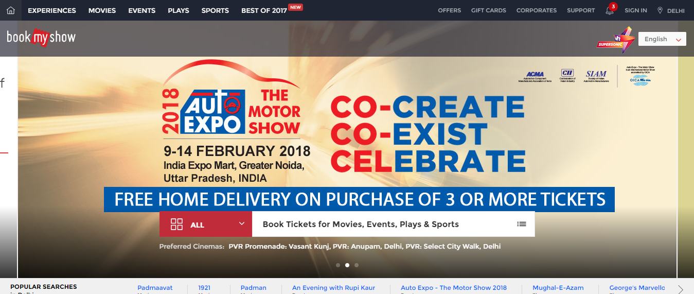 BookMyShow - Shop for Movie Tickets Online