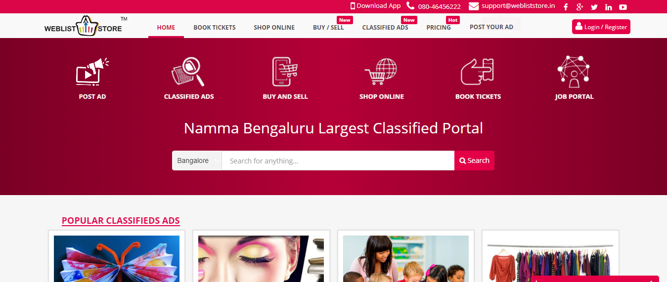 Classifieds Sites Bangalore - Business Listing