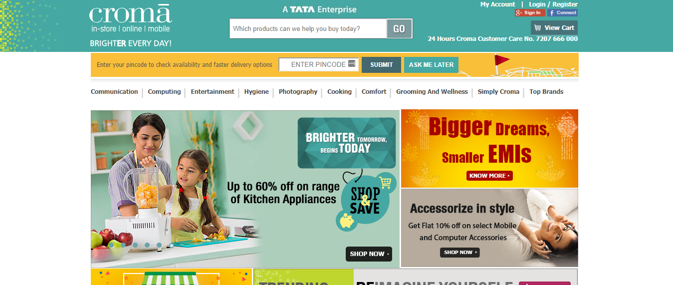 Croma Electronics - Online Electronics Shopping Website