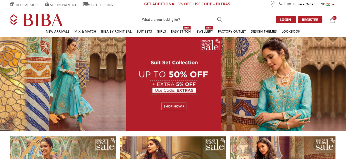 Ethnic Dresses for Women at Best Prices Online - BIBA
