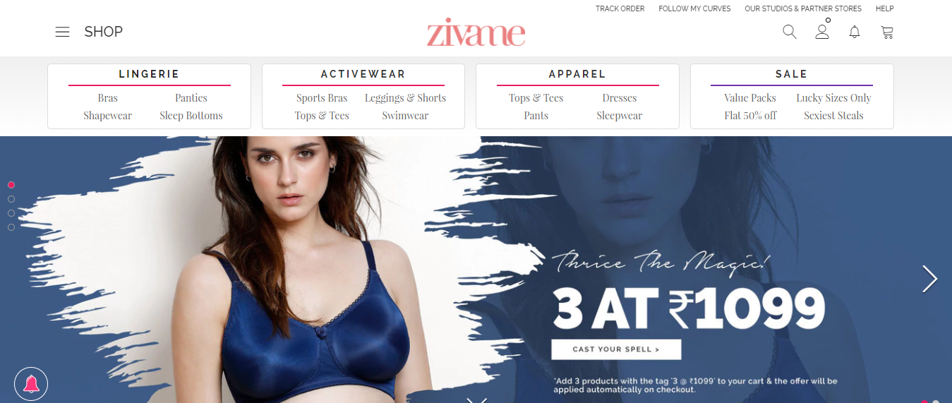 Online Shopping for Lingerie from Zivame