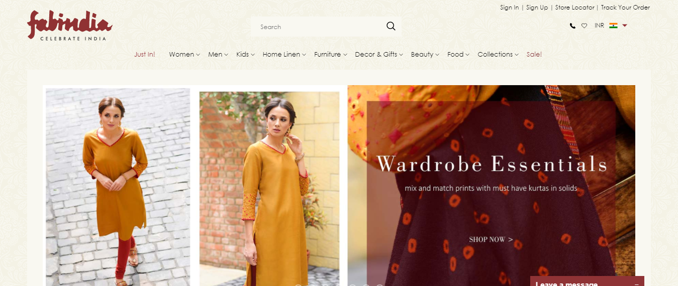 Shop Online for Handwoven Garments - Fabindia com