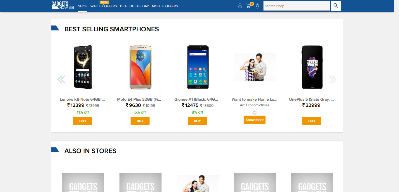 Gadgetsnow - Online smartphone shopping site