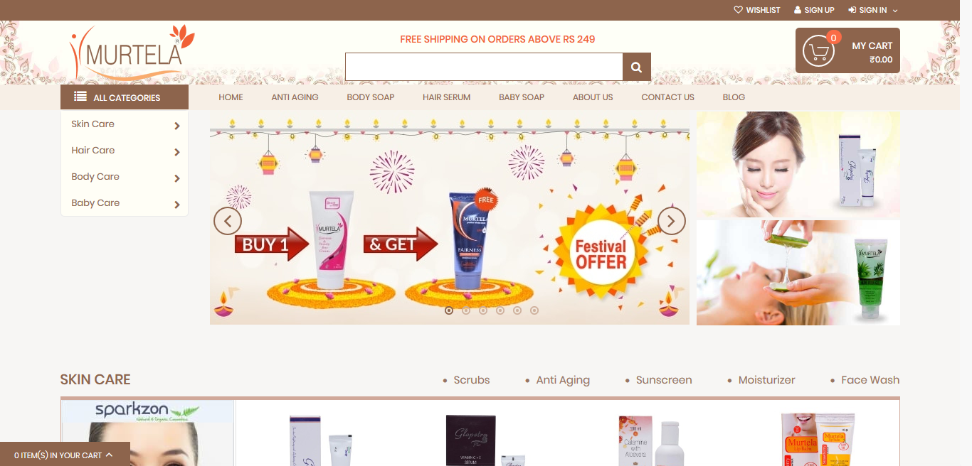 Murtela - Online shooping website for cosmetics