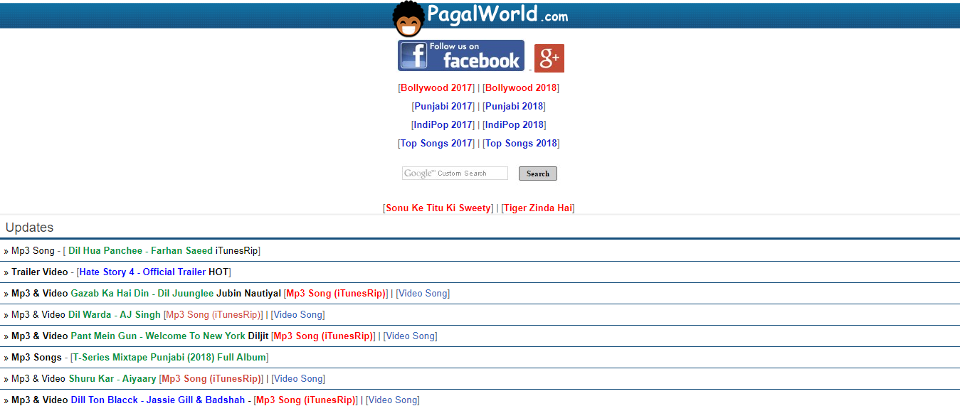 PagalWorld - Free Unblocked Music Websites