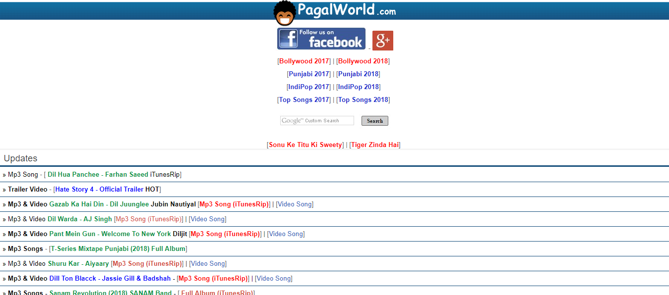 PagalWorld- Unblock music sites