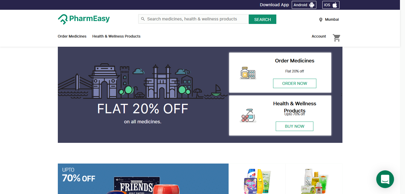 Pharmeasy - Online Medicine shopping website