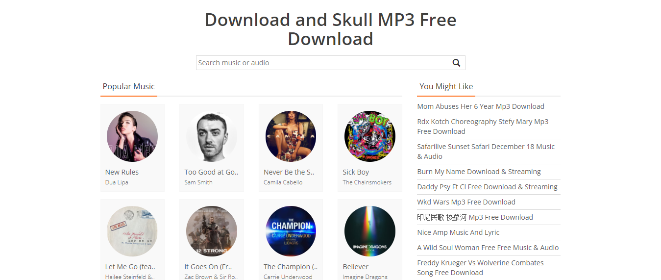Skull MP3 - Unblock music sites
