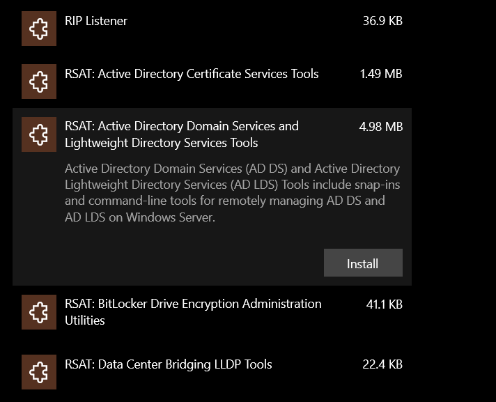 RSAT- Active Directory Domain Services