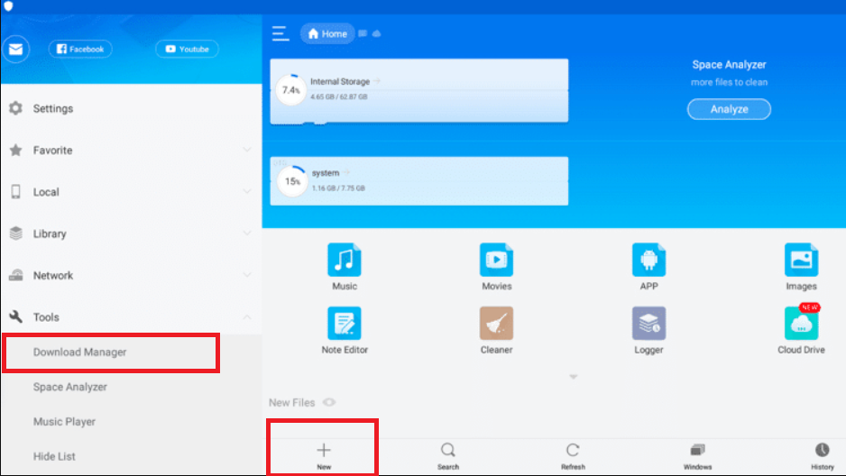 Download Manager on ES File Explorer