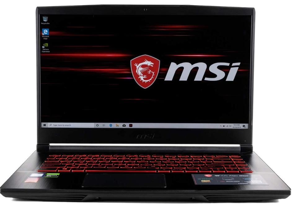 MSI GF65 - Best Gaming Laptop Under 1500