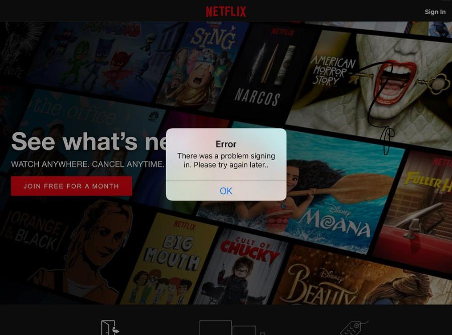 Netflix not working - Error M7111-1931-404