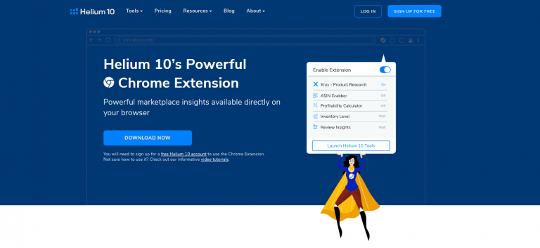 Helium 10 Chrome Extention