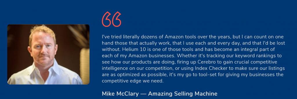 Helium 10 Testimonials review