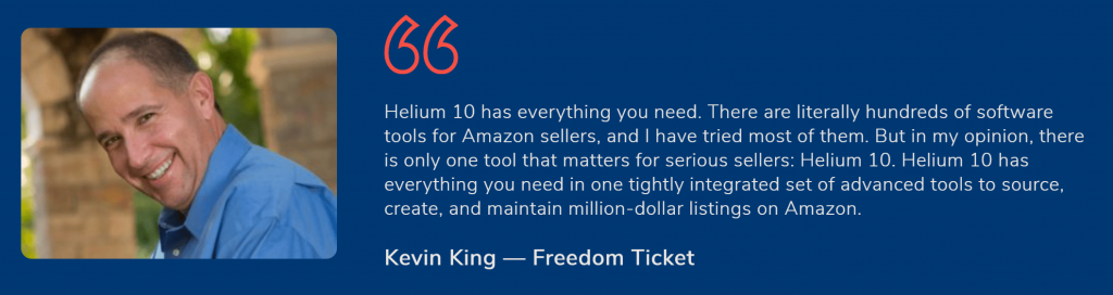 Kevin king helium 10 reviews- Helium 10 vs sellics