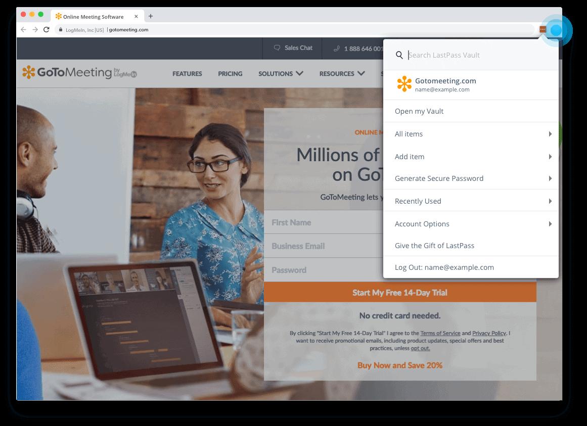 Lastpass browser Extension