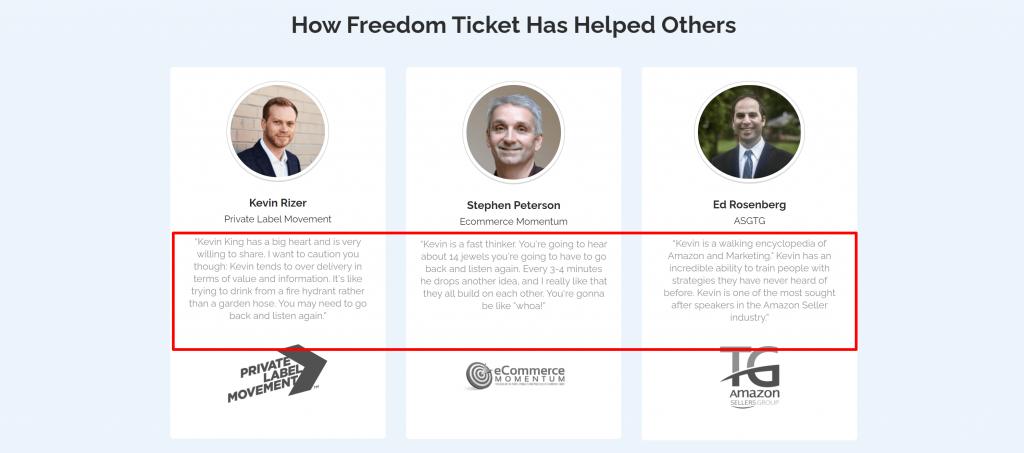 Freedom ticket- helium 10 review
