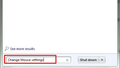 change mouse settings