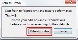 refresh firefox
