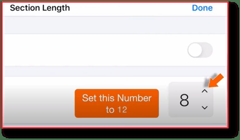 set number